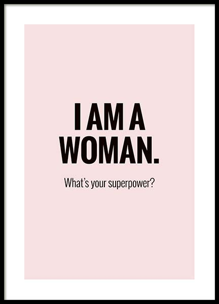 I'm a Woman Poster in the group Prints / Text posters at Desenio AB (10029)