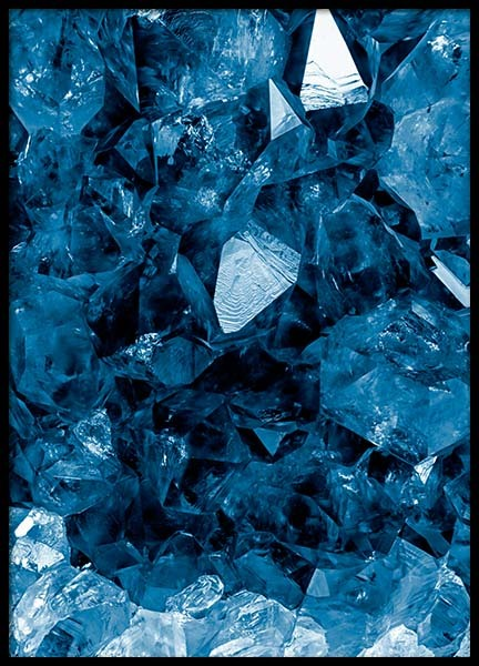 Indigo Crystal Poster in the group Prints / Photographs at Desenio AB (10058)