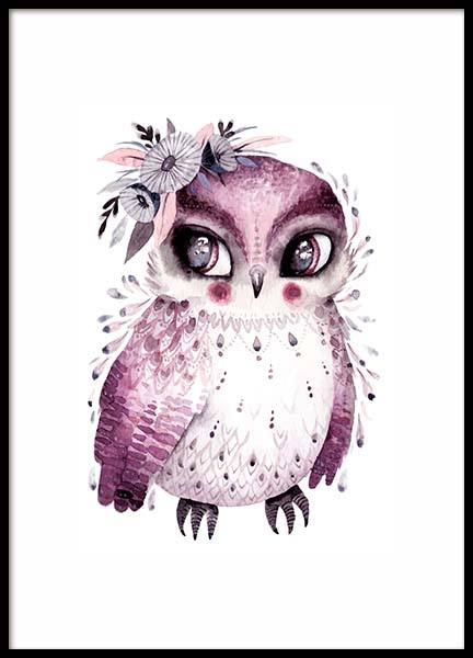Little Owl Poster in the group Prints / Kids posters at Desenio AB (10113)