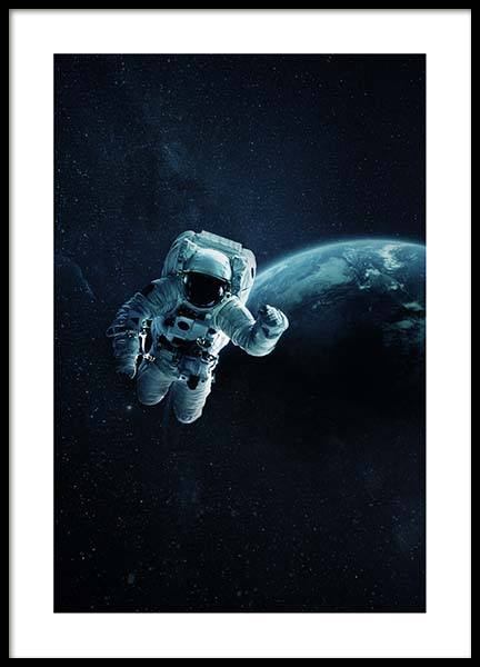 Astronaut In Space Poster in the group Prints / Kids posters at Desenio AB (10118)