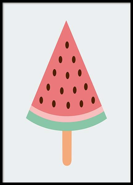 Watermelon Ice Cream Poster in the group Prints / Kids posters at Desenio AB (10157)
