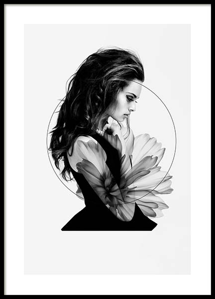 Delilah Poster in the group Prints / Black & white at Desenio AB (10185)