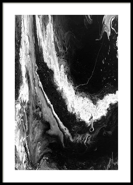 Abstract Black Poster in the group Prints / Black & white at Desenio AB (10271)