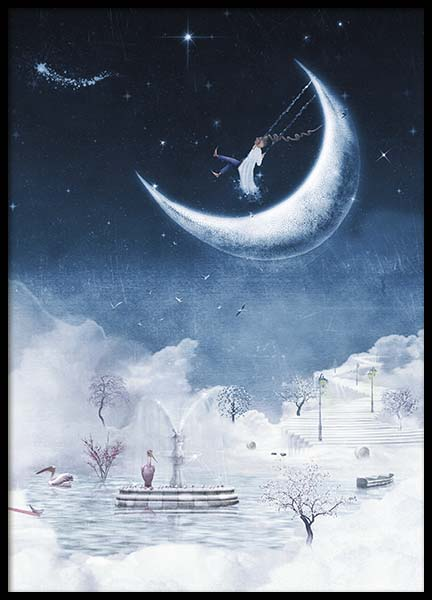 Foggy Winter Night Poster in the group Prints / Kids posters at Desenio AB (10277)