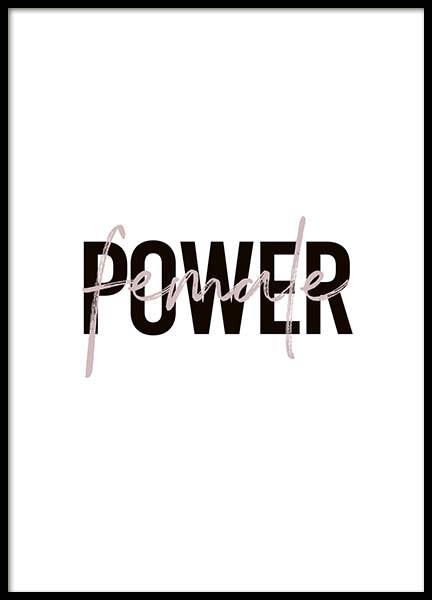 Female Power Poster in the group Prints / Text posters at Desenio AB (10292)