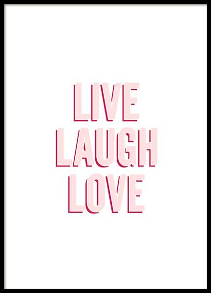 Live Laugh Love Poster in the group Prints / Text posters at Desenio AB (10307)