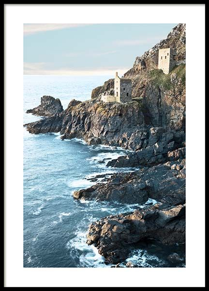Botallack Tin Mine North Cornwall Poster in the group Prints / Nature at Desenio AB (10470)