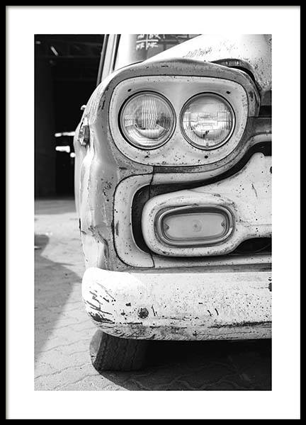 Old Car Poster in the group Prints / Black & white at Desenio AB (10550)