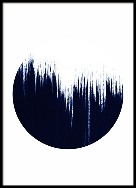 Blue stroke circle No2 Poster in the group Prints / Art prints at Desenio AB (10592)