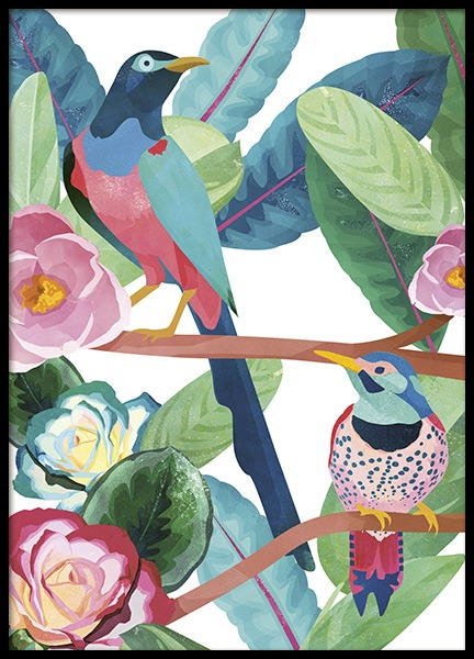 Birds of Paradise Poster in the group Prints / Animals at Desenio AB (10687)