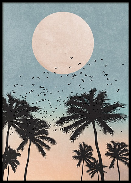 Palm Tree Sunrise Poster in the group Prints / Graphical at Desenio AB (10934)