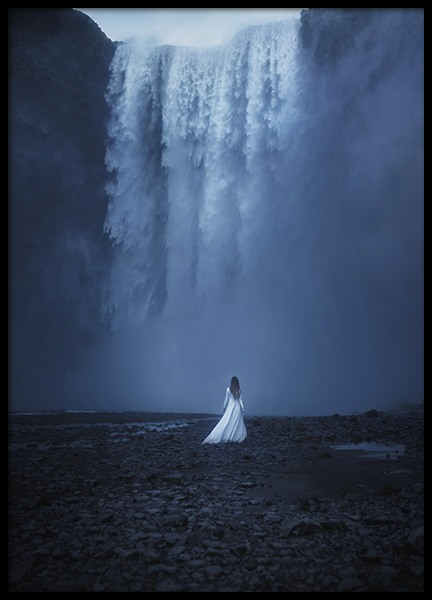 Woman by the Waterfall Poster in the group Prints / Nature at Desenio AB (10978)