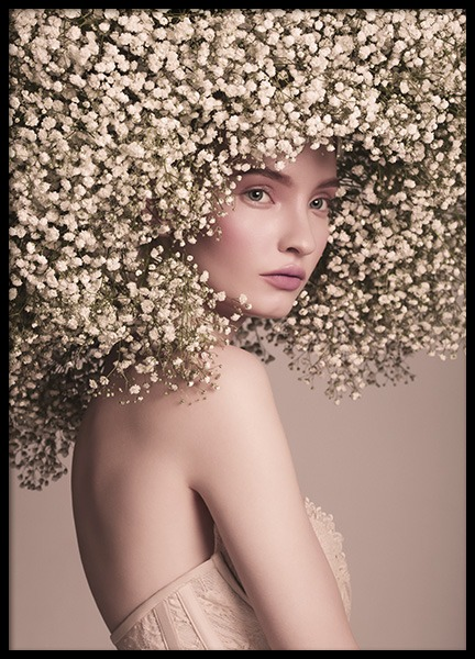 Flower Hair Poster in the group Prints / Photographs at Desenio AB (10995)