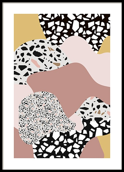 Terrazzo Collage No2 Poster in the group Prints / Art prints at Desenio AB (11064)