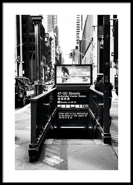 NYC Subway Poster in the group Prints / Black & white at Desenio AB (11310)