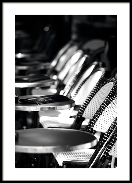 Paris Café Poster in the group Prints / Black & white at Desenio AB (11346)