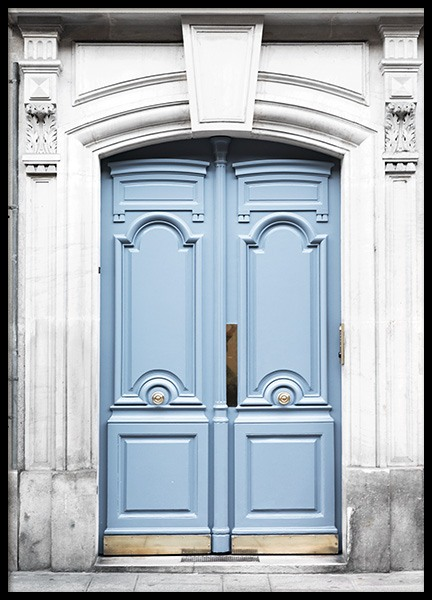 Paris Blue Door Poster in the group Prints / Photographs at Desenio AB (11353)