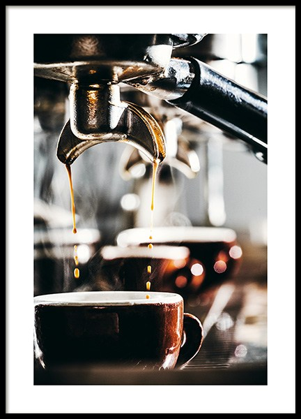 Espresso Drops Poster in the group Prints / Kitchen at Desenio AB (11518)