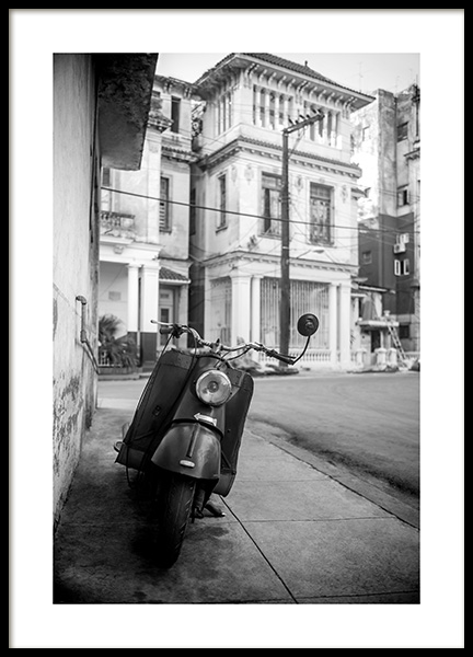 Street of Havana Poster in the group Prints / Black & white at Desenio AB (11528)