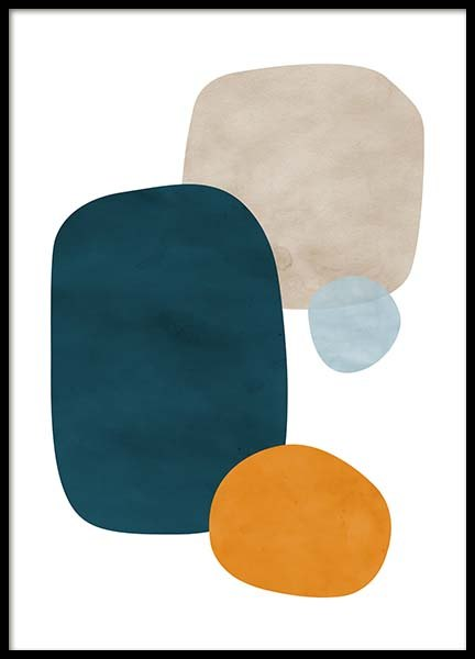 Color Shapes No1 Poster in the group Prints / Art prints at Desenio AB (11693)