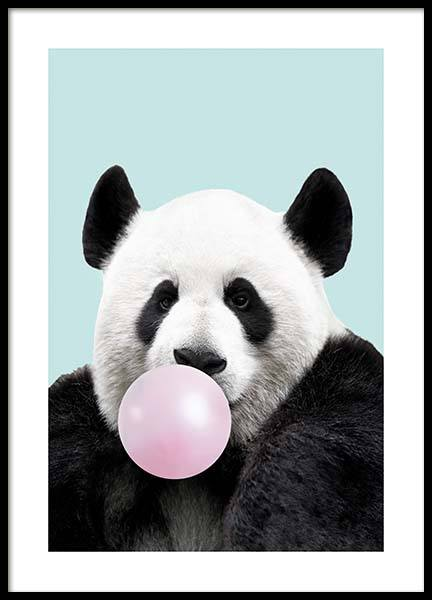 Bubblegum Panda Poster in the group Prints / Kids posters at Desenio AB (11770)
