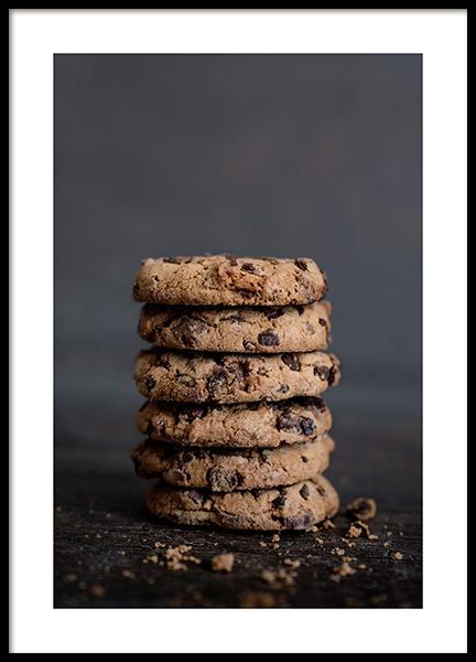 Chocolate Cookies Poster in the group Prints / Kitchen at Desenio AB (11826)