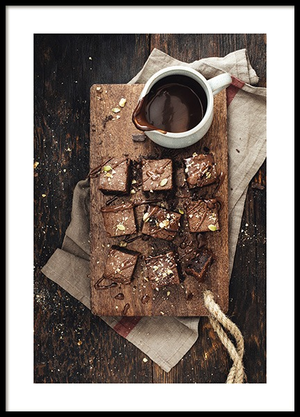 Chocolate Brownies Poster in the group Prints / Kitchen at Desenio AB (11827)