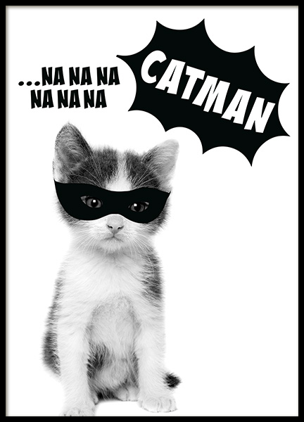 Catman Poster in the group Prints / Kids posters at Desenio AB (11906)