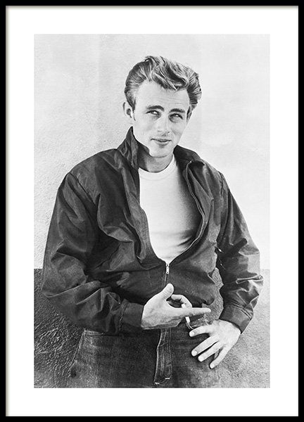 James Dean Poster in the group Prints / Black & white at Desenio AB (11965)