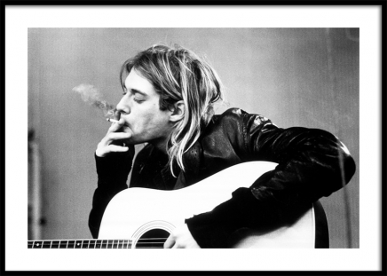 Kurt Cobain Poster in the group Prints / Black & white at Desenio AB (11966)