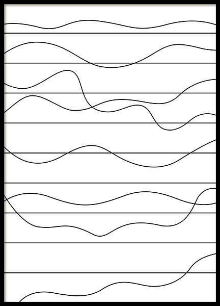 Ups and Downs Poster in the group Prints / Black & white at Desenio AB (11989)