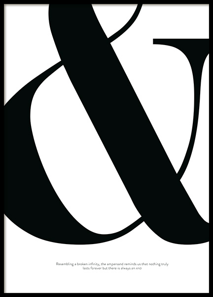 Didot Ampersand Poster in the group Prints / Text posters at Desenio AB (12011)