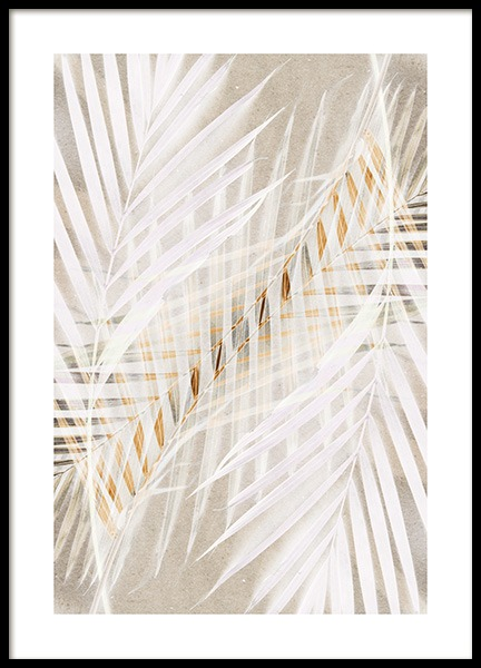 White Palm Leaves Poster in the group Prints / Photographs at Desenio AB (12059)