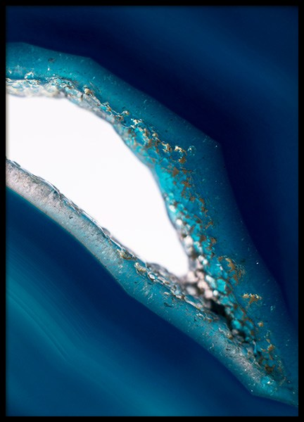 Blue Agate No2 Poster in the group Prints / Photographs at Desenio AB (12095)