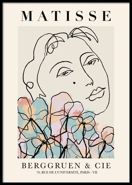 Matisse Floral No1 Poster in the group Prints / Art prints / Matisse at Desenio AB (14748)
