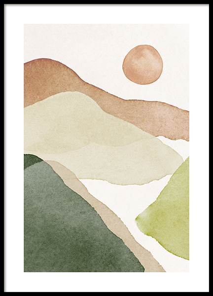 Aquarelle Landscape No1 Poster