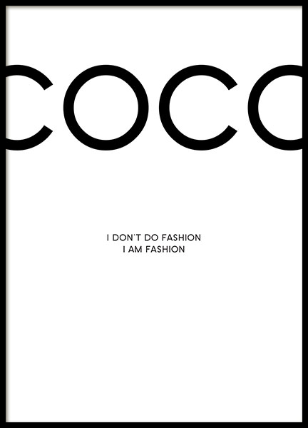 Print with Chanel. Poster with citations from Coco Chanel online