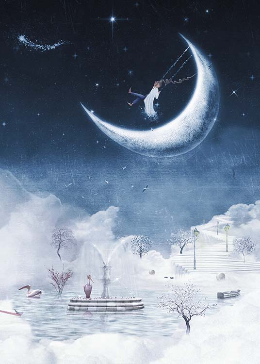 Foggy Winter Night Poster / Kids posters at Desenio AB (10277)