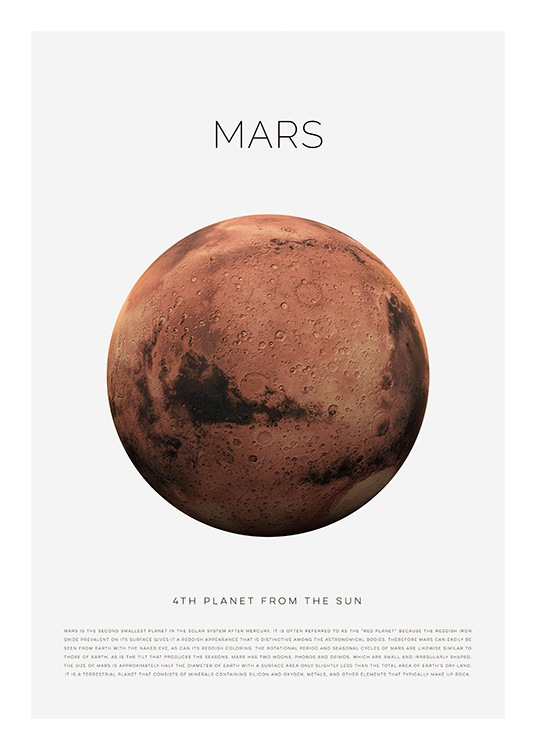 Planet Mars Poster / Kids posters at Desenio AB (11438)