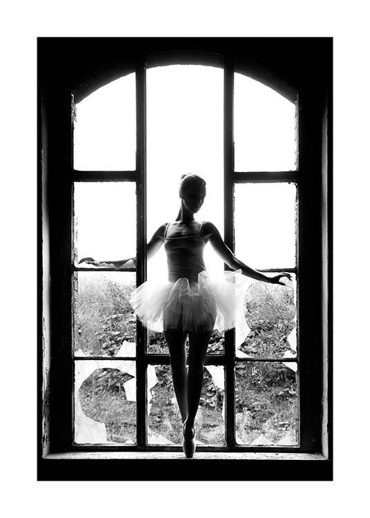 Window Ballet Poster / Black & white at Desenio AB (11701)