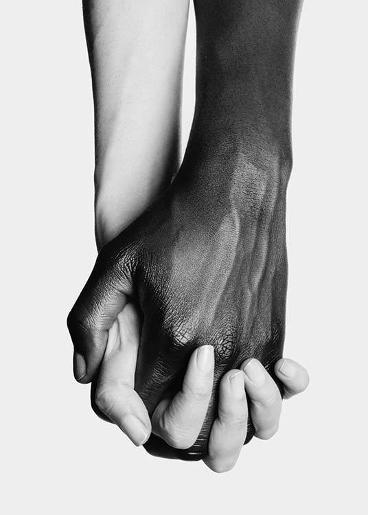 Holding Hands No3 Poster / Black & white at Desenio AB (11708)