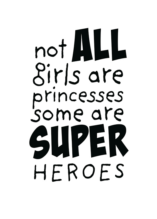 Girls are Superheroes Poster / Kids posters at Desenio AB (11905)