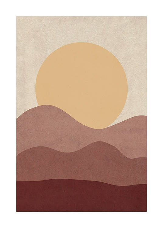 Sunrise Illustration Poster / Nature at Desenio AB (12400)
