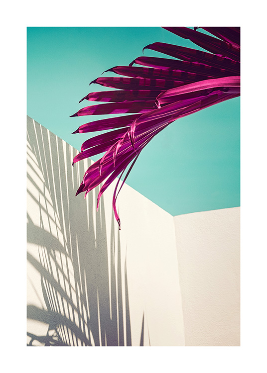 Purple Palm Leaf Poster / Botanical at Desenio AB (12416)