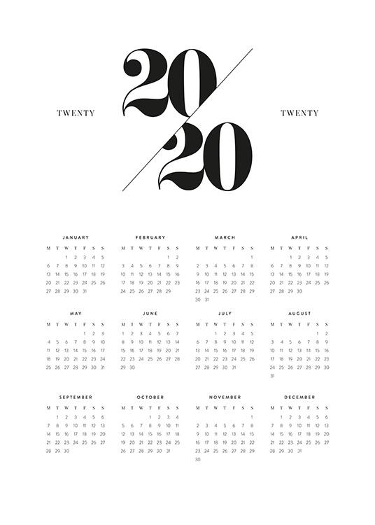 calendar 2020 poster