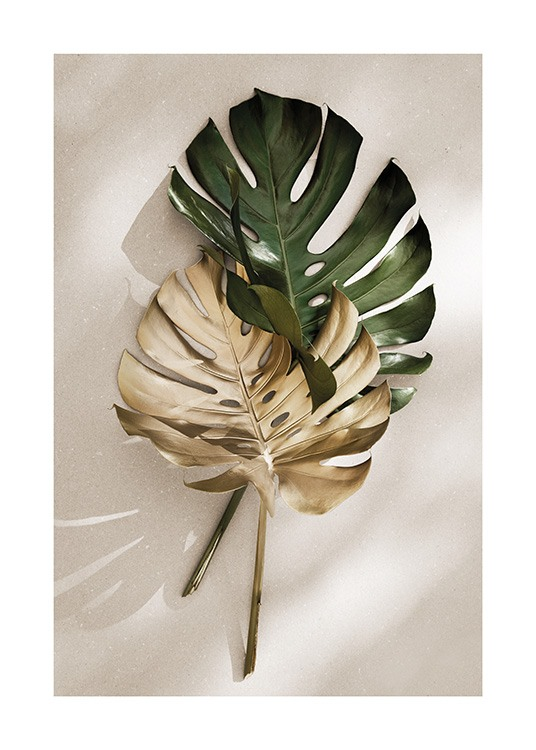 Gold Monstera No1 Poster / Monsteras at Desenio AB (13667)