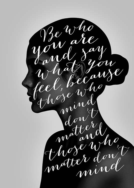 Be Who You Are Poster / Text posters at Desenio AB (3670)