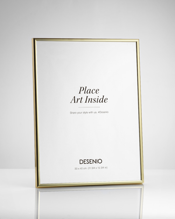 - Gold metal frame fitting prints in 50x50